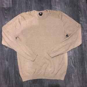 H&M beige sweater scoop neck top